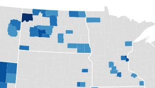 North Dakota County Incomes